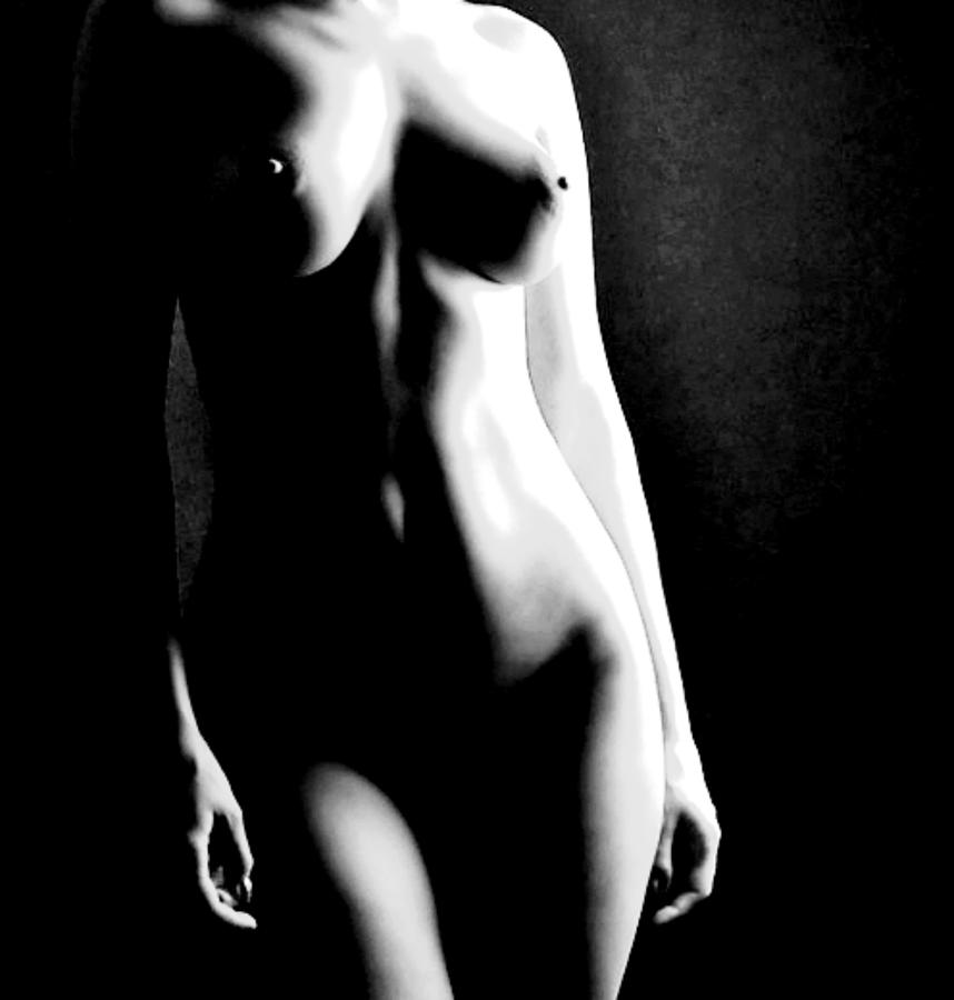 Nude Photograph - Female Form And Light by James Harper