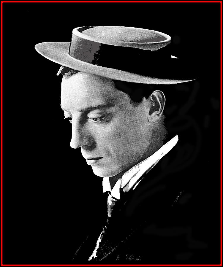 Film Homage Melbourne Spurr Buster Keaton C.1921 Color Added 2012 Photograph by David Lee Guss