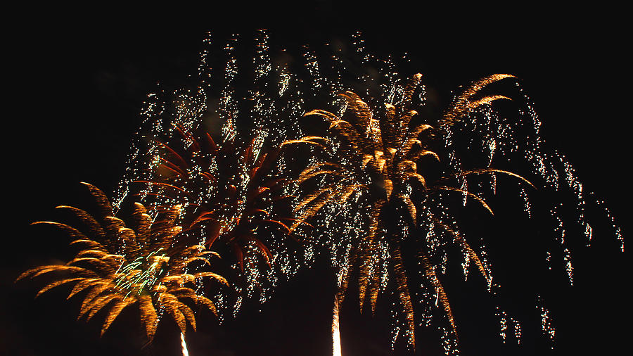 Night Photograph - Fireworks by Lester Phipps
