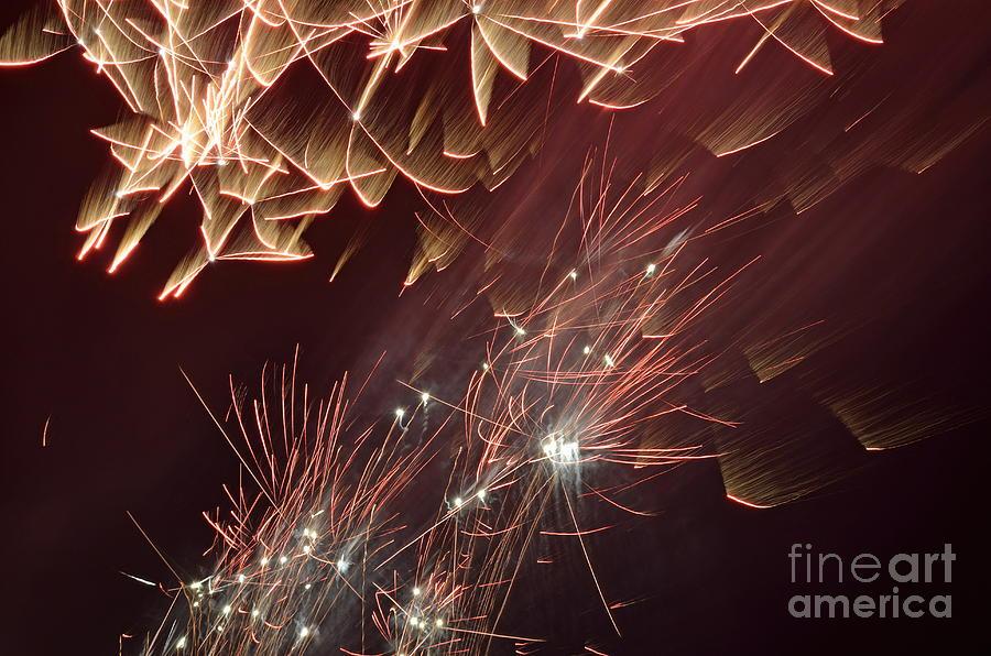 Horizontal Photograph - Fireworks On Bastille Day by Sami Sarkis