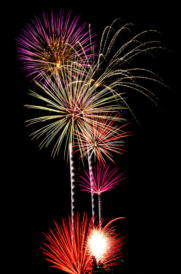 July 4th Photograph - Fireworks  by Saija  Lehtonen