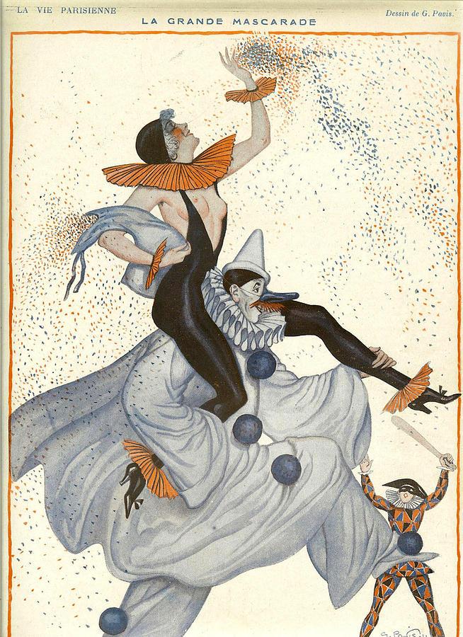France Photograph - France La Vie Parisienne Magazine Plate by The Advertising Archives