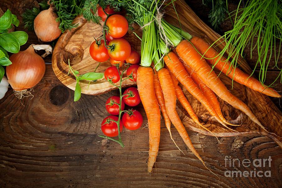 Crop Photograph - Fresh Vegetables by Mythja  Photography