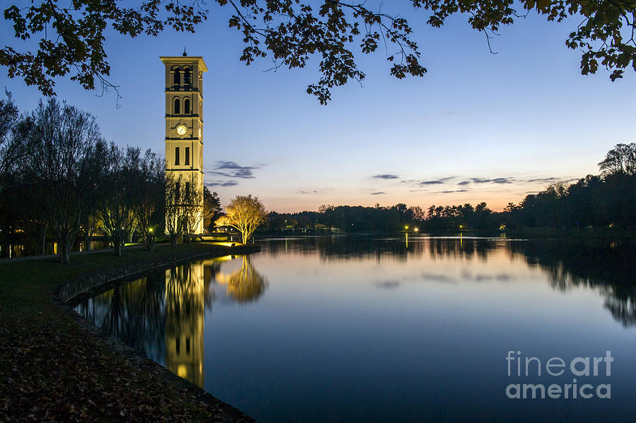 4bea963ee3ec1 Furman University Bell Tower At Sunset Greenville Sc by Willie Harper