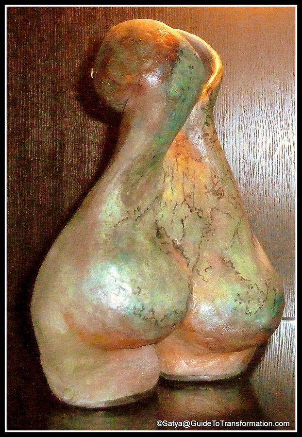 Woman Sculpture - Garden Of My Soul by Satya Winkelman