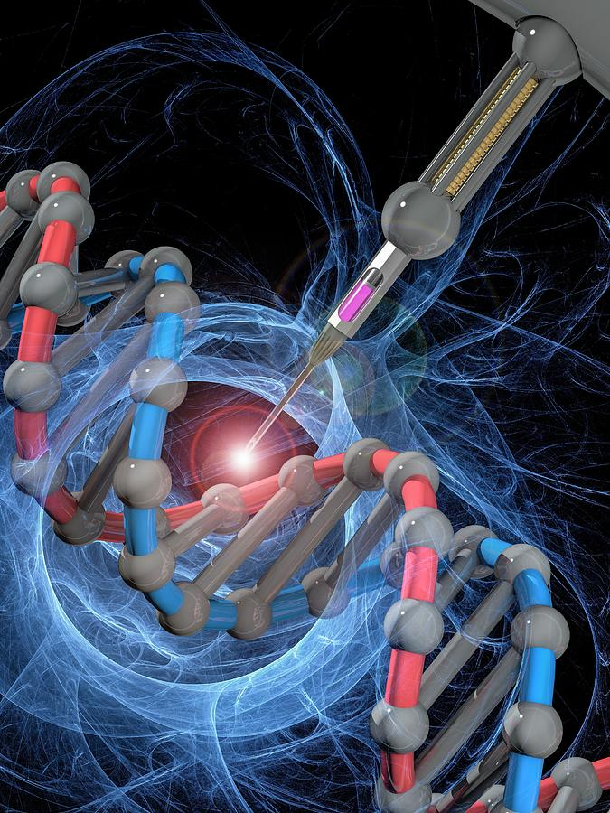 3d Photograph - Genetic Engineering 3 by Laguna Design/science Photo Library