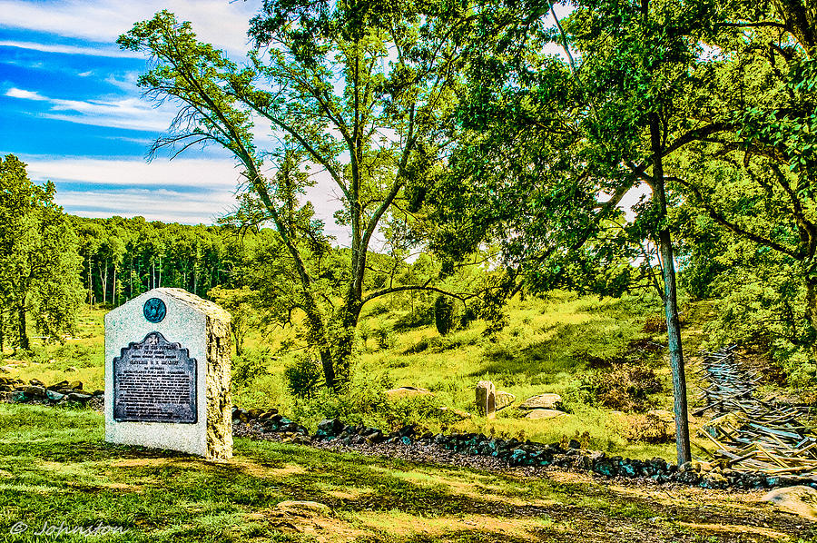 Pennsylvania Digital Art - Gettysburg Battleground by Bob and Nadine Johnston