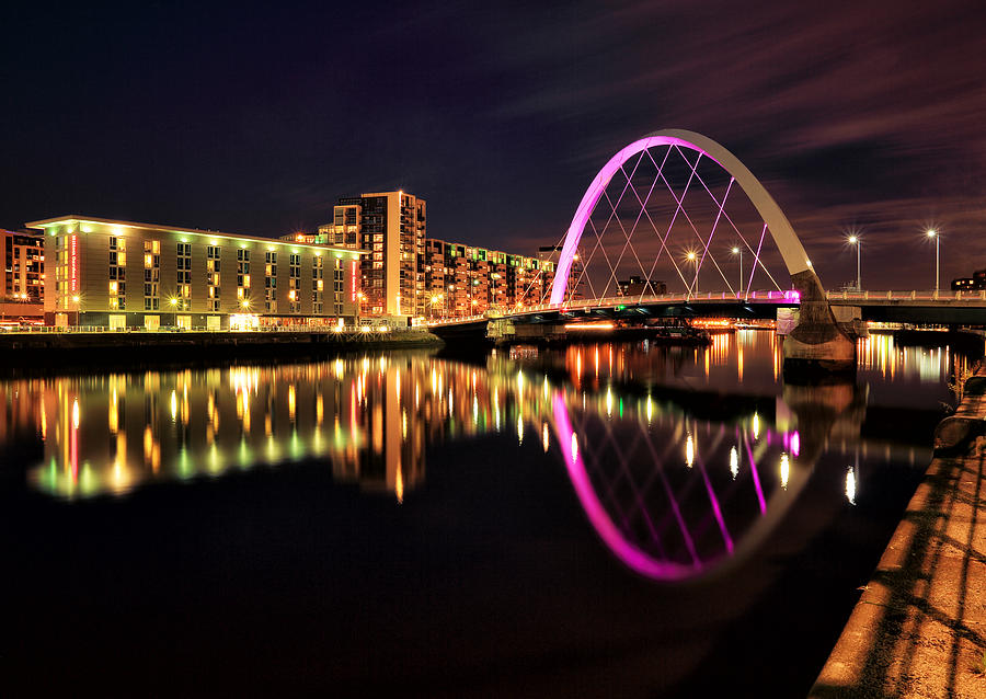 Clyde Arc Photograph - Glasgow Clyde Arc Bridge by Grant Glendinning