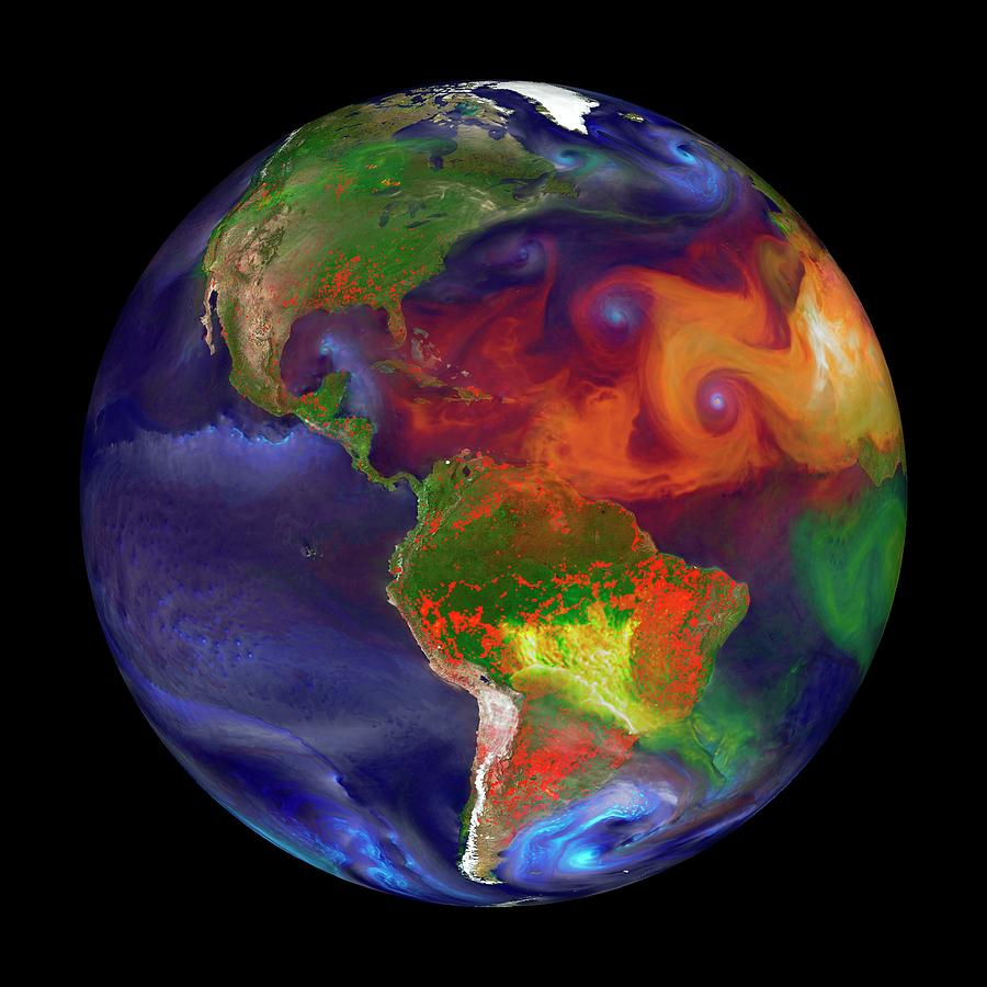 Earth Photograph - Global Fires by William Putman/nasa Goddard Space Flight Center