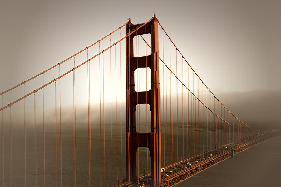 America Photograph - Lovely Golden Gate Bridge by Melanie Viola