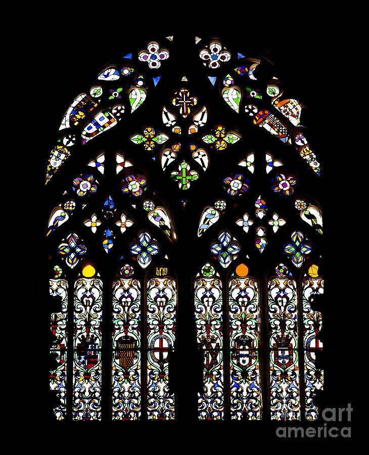 Stained Glass Photograph - Gothic Window by Jose Elias - Sofia Pereira