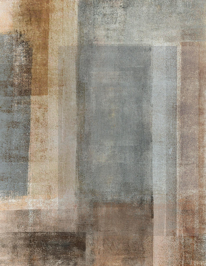 Blended Grey And Beige Abstract Art Painting Painting By