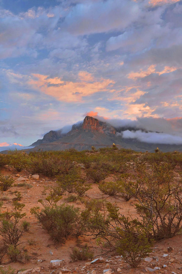 West Texas Photograph - Guadalupe Mountains Sunrise by Stephen  Vecchiotti