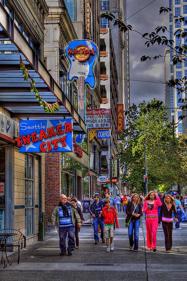 Hard Rock Cafe Photograph - Hard Rock Cafe - Seattle by David Patterson