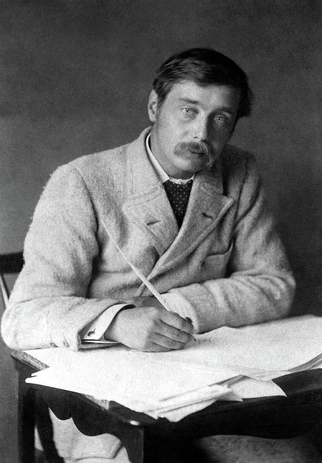 1896 Photograph - Herbert George Wells (1866-1946) by Granger