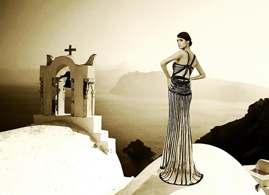 Adult Photograph - High Fashion Santorini by Milan Karadzic