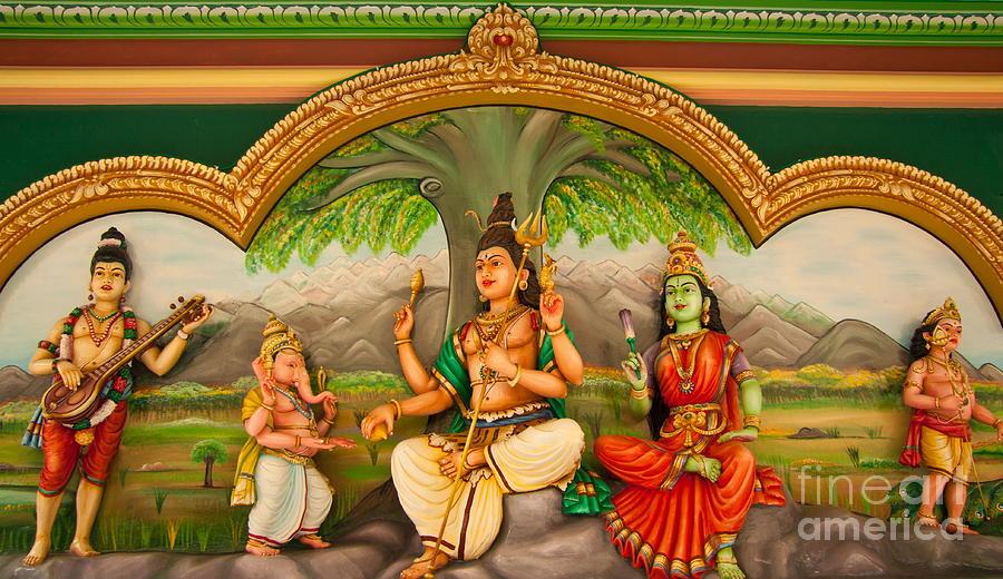 Hinduism Photograph - Hindu God by Niphon Chanthana
