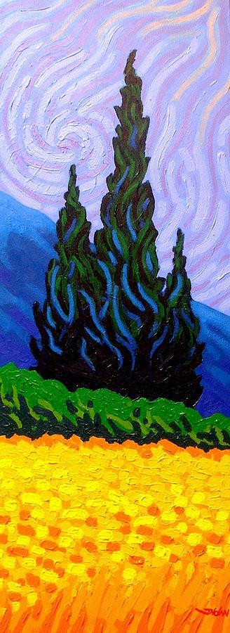Landscape Painting - Homage To Van Gogh by John  Nolan