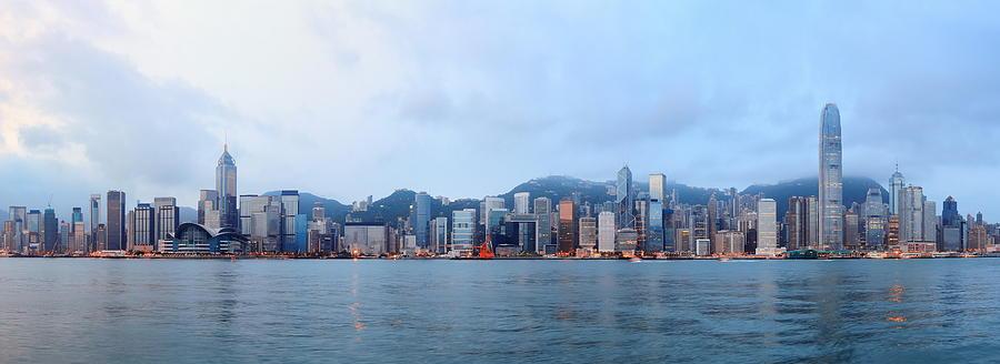 Hong Kong Photograph - Hong Kong Morning by Songquan Deng