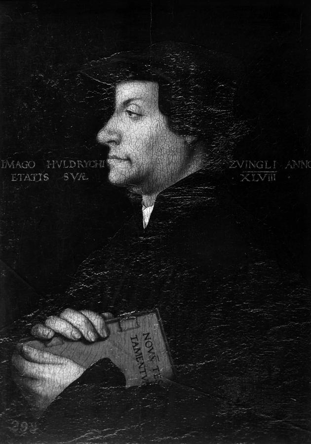 15th Century Painting - Huldreich Zwingli (1484-1531) by Granger