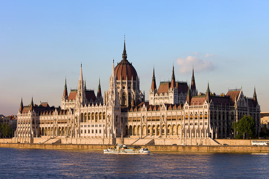 Architectural Photograph - Hungarian Parliament Building In Budapest by Artur Bogacki