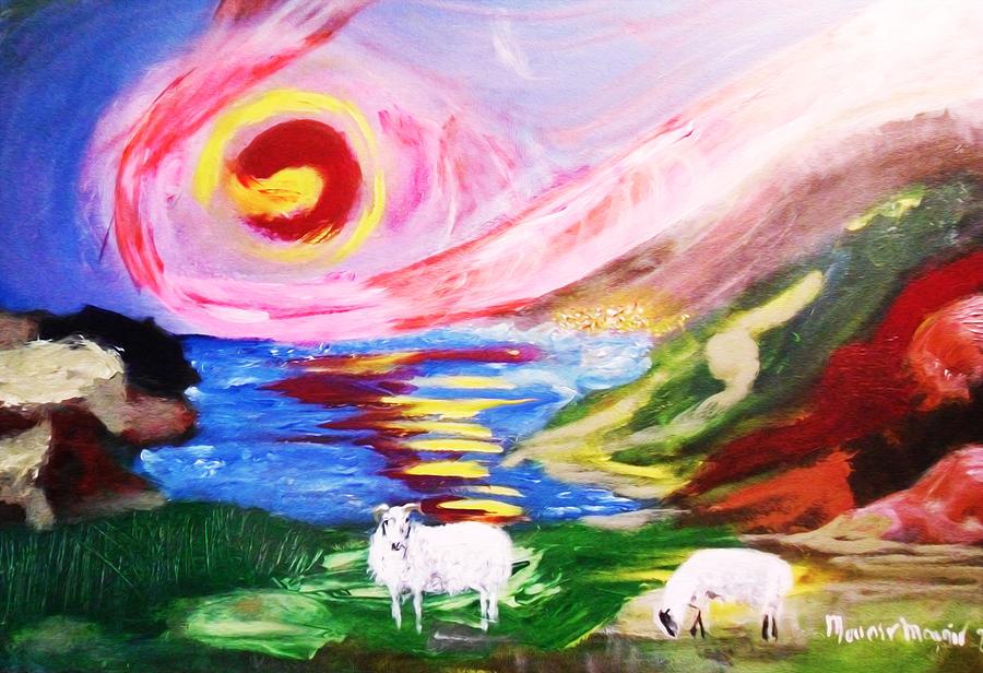Ireland Painting - Irish Sunset by Mounir Mounir