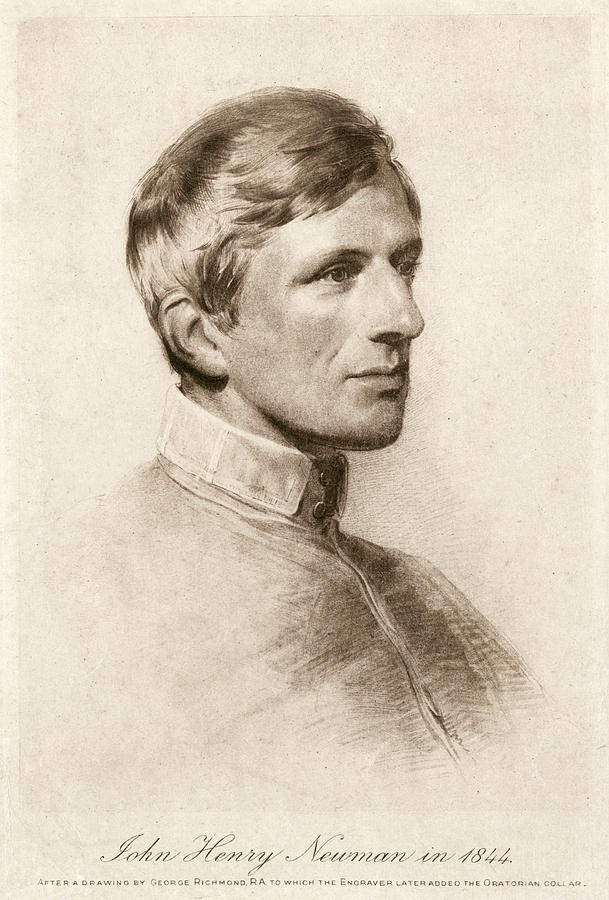 Newman Drawing - John Henry Newman  Catholic Convert by Mary Evans Picture Library
