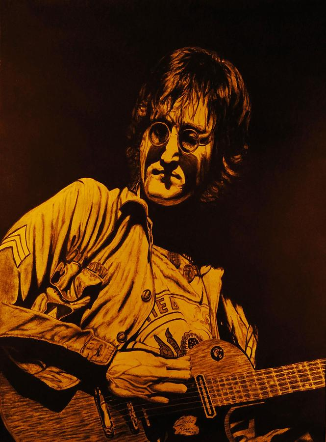 Lennon Drawing - John Lennon 1972 by Charles Rogers