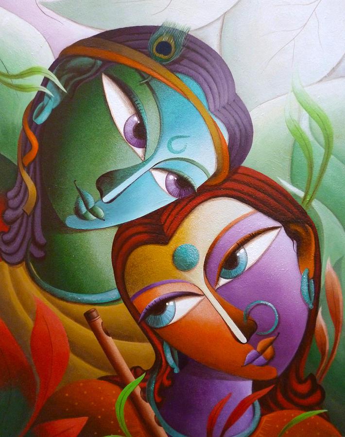 Krishna At Sixteen Pai... Simple Paintings Of Lord Krishna