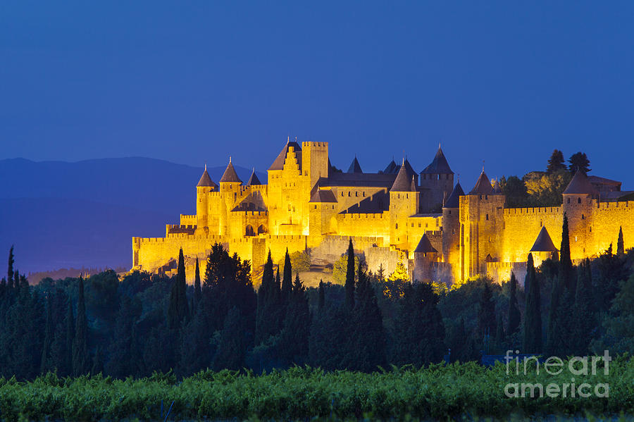 Architecture Photograph - La Cite Carcassonne by Brian Jannsen