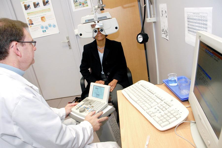 Human Photograph - Laser Eye Surgery Preparation by Aj Photo/science Photo Library
