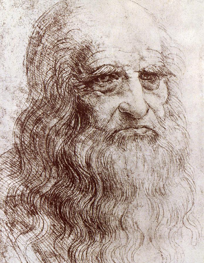 Artist Drawing - Leonardo Da Vinci (1452-1519) by Granger