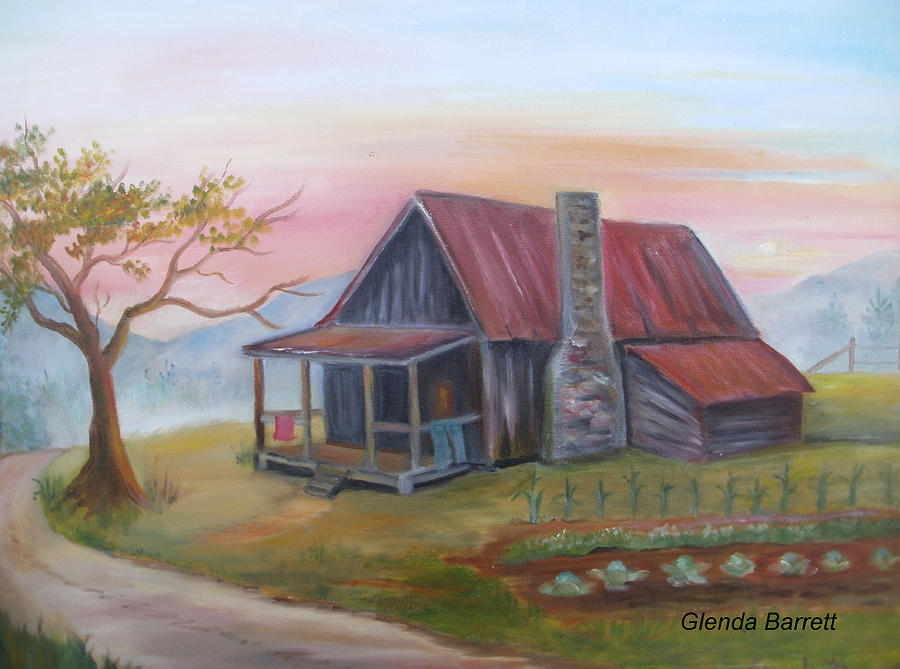 Original Painting - Life In The Country by Glenda Barrett