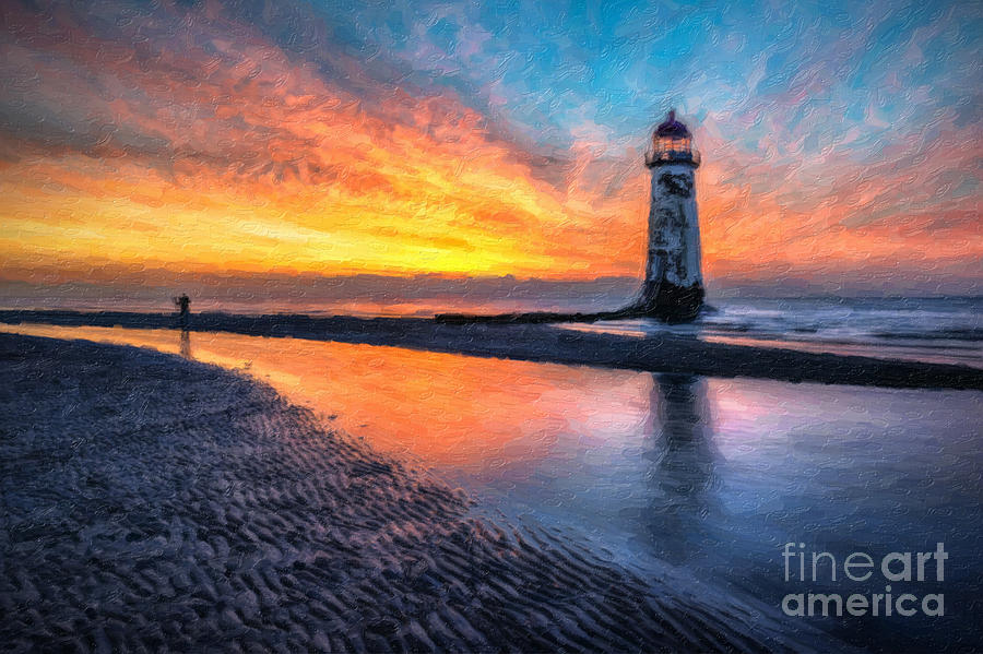 Sunset Photograph - Lighthouse Sunset 4 by Adrian Evans