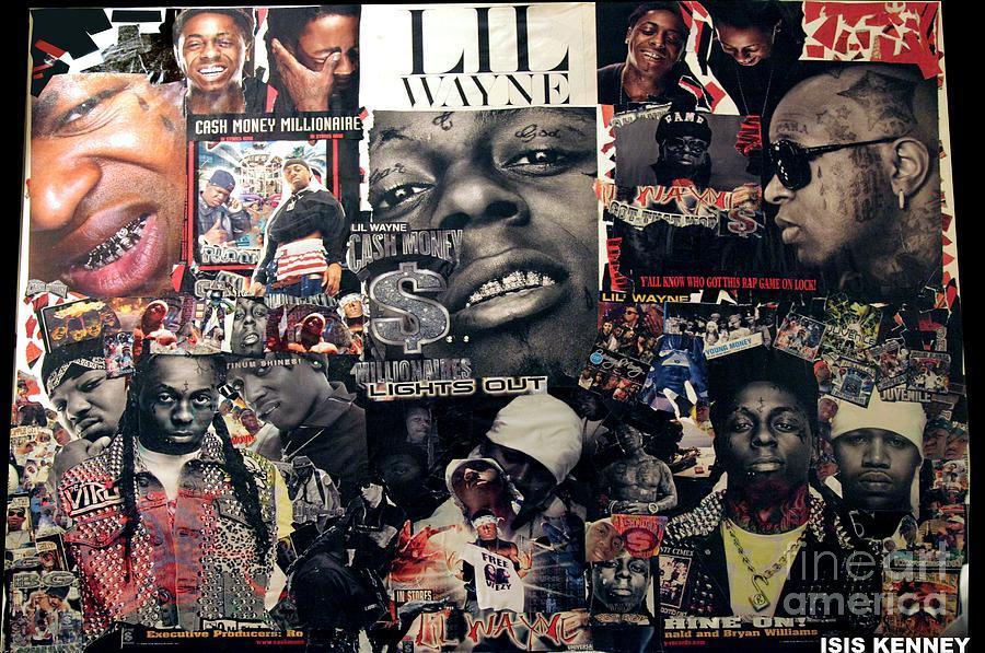 Jay-z Mixed Media - Lil Wayne The Last Hot Boy by Isis Kenney