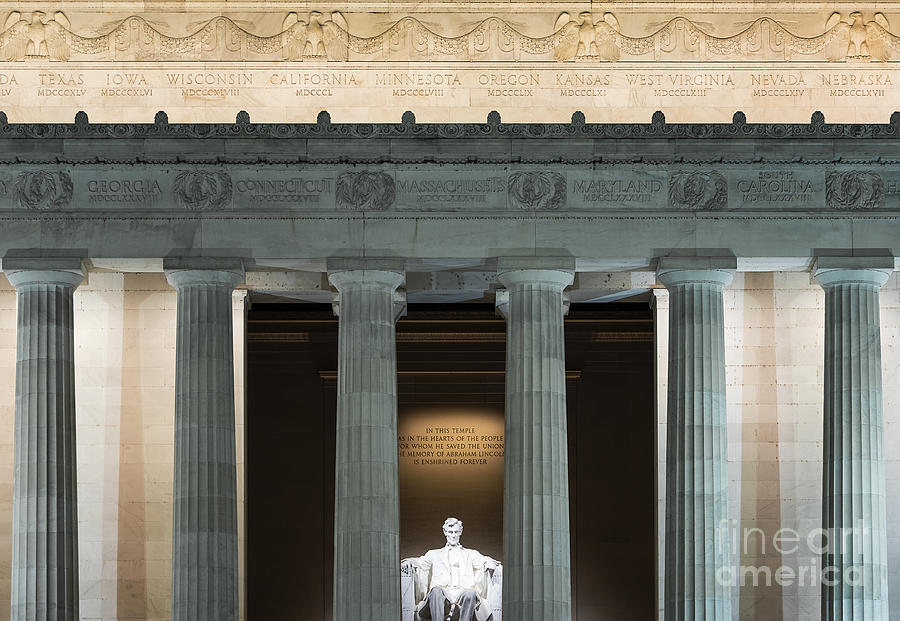 Abe Lincoln Photograph - Lincoln Memorial by John Greim