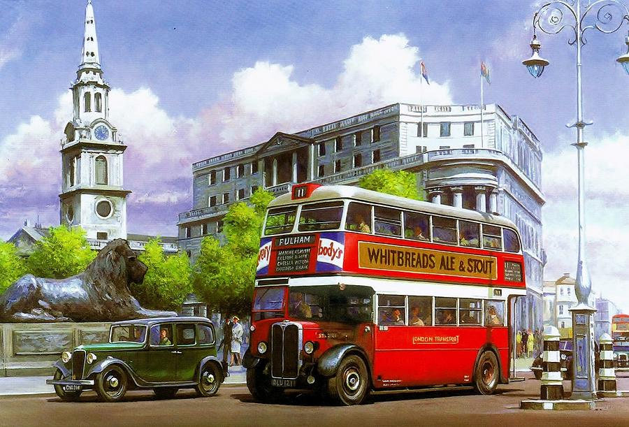 Stl Painting - London Transport Stl by Mike  Jeffries