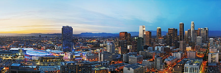 Los Angeles Photograph - Los Angeles Skyline by Kelley King