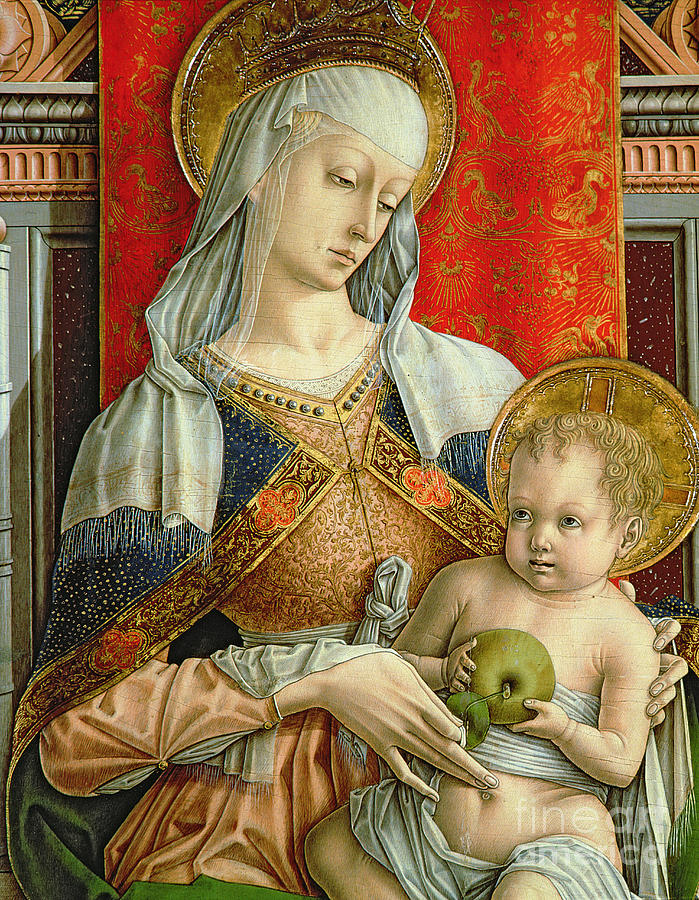 Virgin Painting - Madonna And Child by Carlo Crivelli