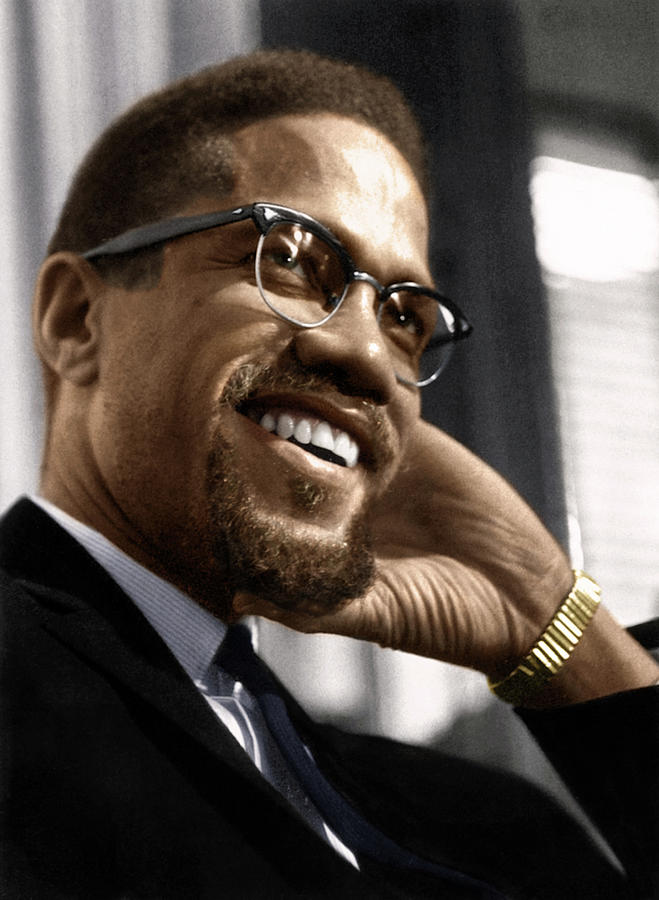 1960 Photograph - Malcolm X 1925-1965 by Granger