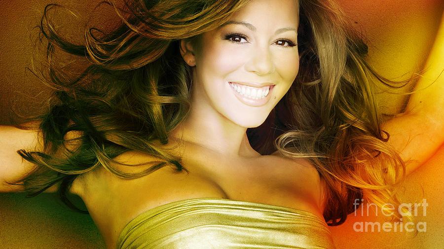 Mariah Carey Mixed Media by Marvin Blaine