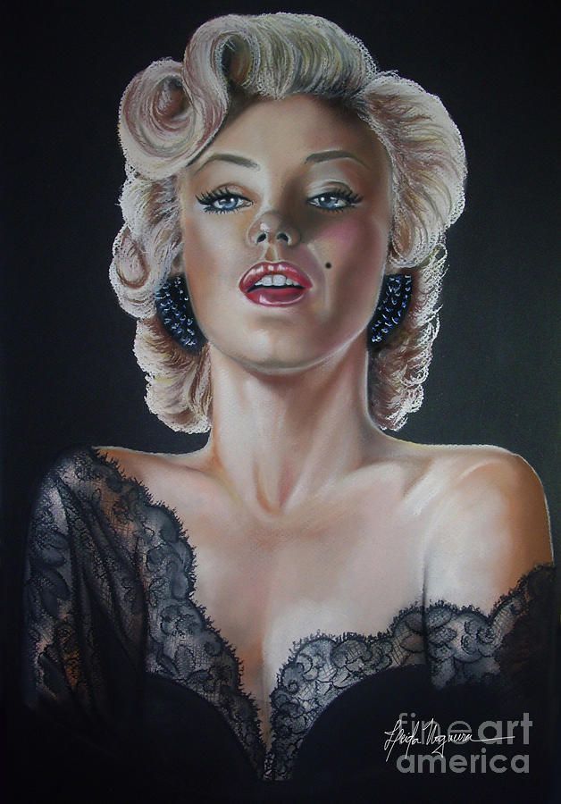 Pin Painting - Marilyn Monroe by Leida Nogueira