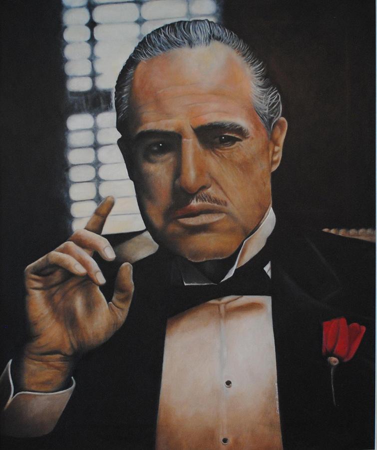 Marlon Brando Painting - Marlon Brando The Godfather by David Dunne