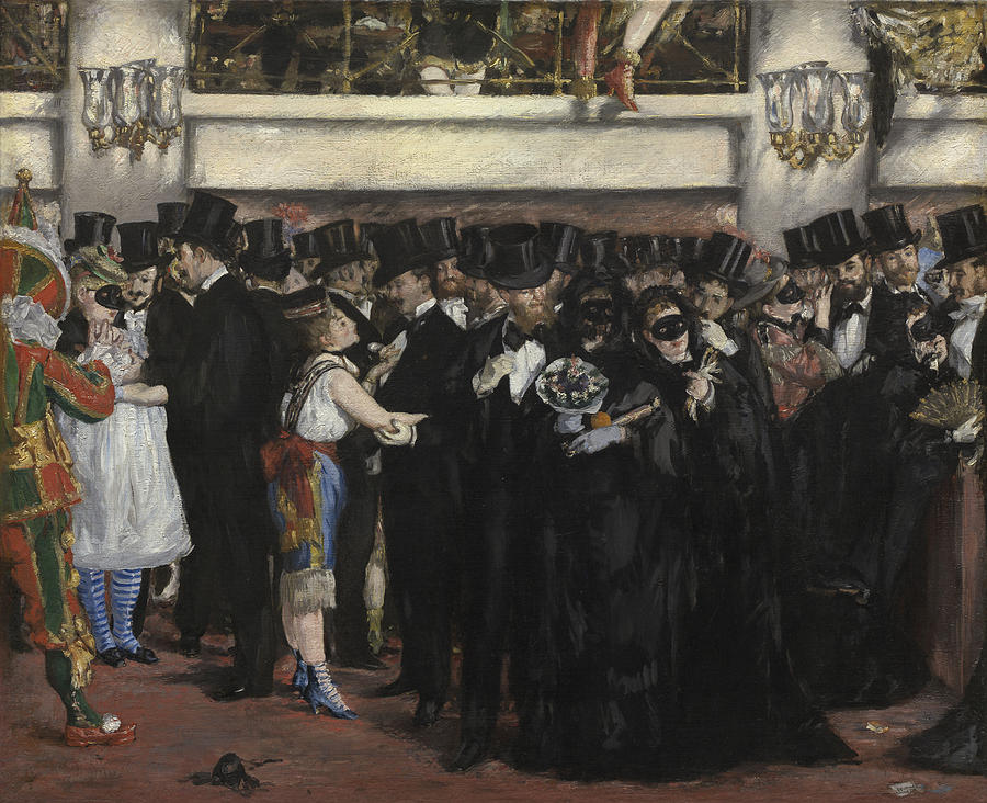 Party Painting - Masked Ball At The Opera by Edouard Manet