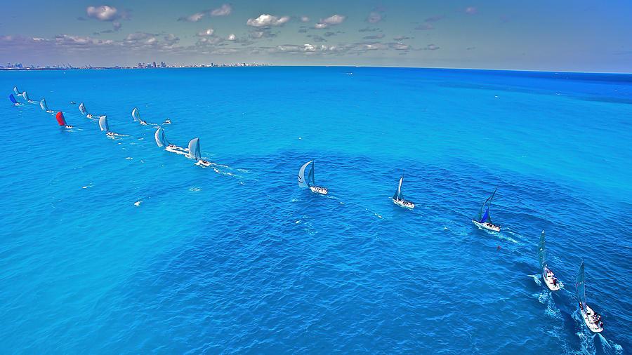 Miami Photograph - Miami Beach Regatta by Steven Lapkin