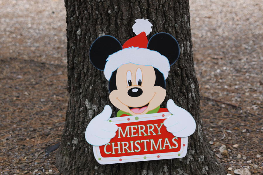 Christmas Decoration Photograph - Mickey Mouse by Dick Willis