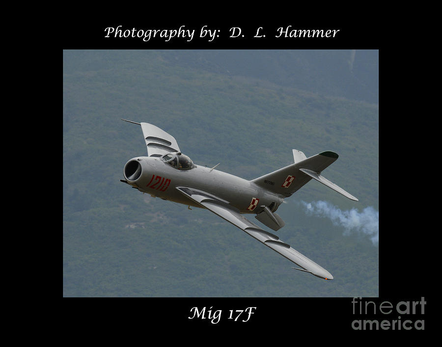 Plane Photograph - Mig-17f by Dennis Hammer