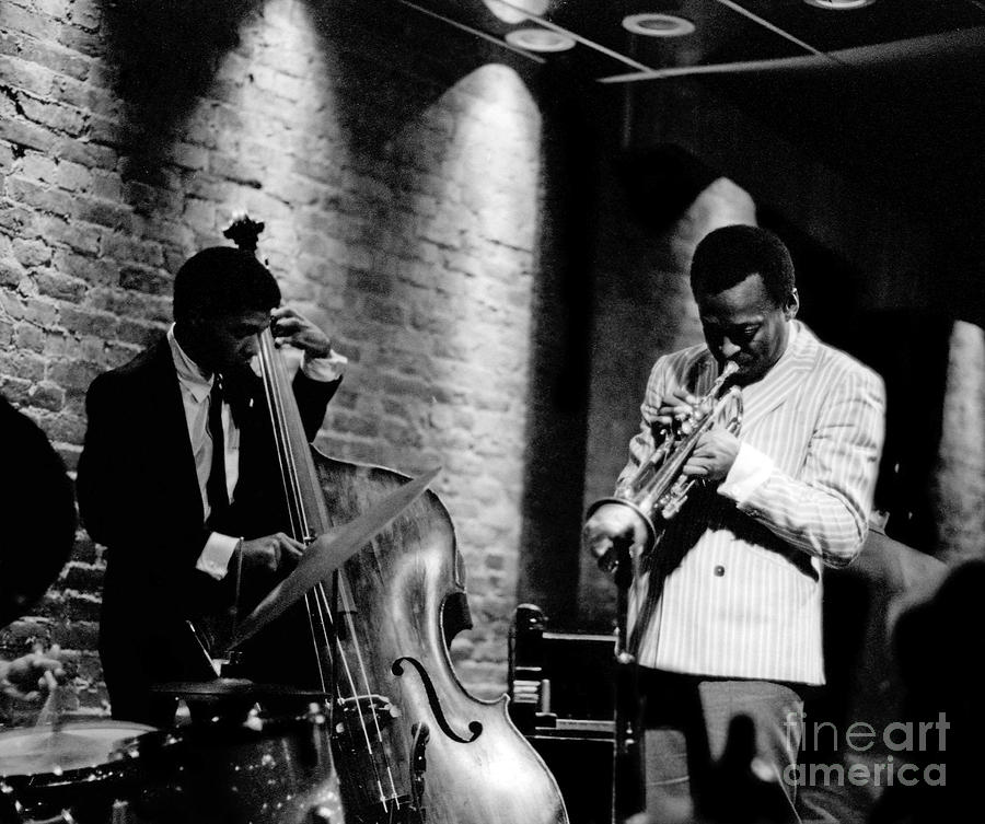 Jazz Photograph - Miles Davis and Buster Williams at the Penthouse by Dave Coleman
