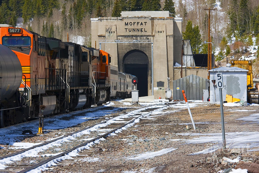 Moffat Tunnel East Portal At The Continental Divide In Colorado Photograph