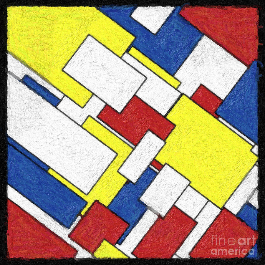 Mondrian Rectangles Painting by Celestial Images